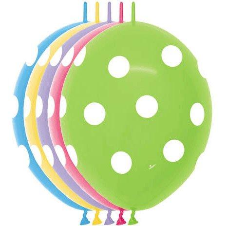 """12"""" Polka Dots Link-o-loon (10"""