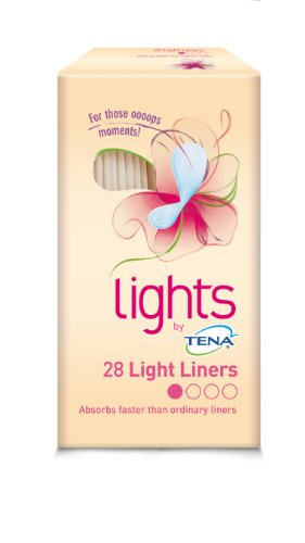 TENA Lights Light Liner - 5 x Packs of 28 (140 liners) by Tena