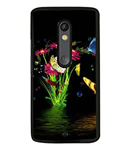 printtech Water Flowers Back Case Cover for Motorola Moto X Style
