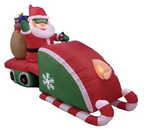 Eight Foot Long Christmas Inflatable Santa Claus D Case Pack 4 Pieces