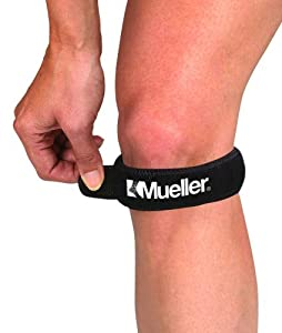 Mueller Jumpers Knee Strap Moderate Support Level (BLACK/OSFM)