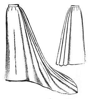 Titanic Edwardian Sewing Patterns- Dresses, Blouses, Corsets, Costumes 1892 Umbrella Skirt with Train Pattern                               $15.40 AT vintagedancer.com