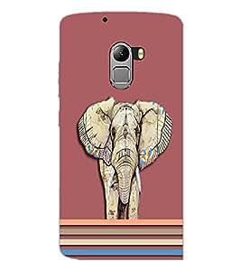 PrintDhaba Elephant D-3702 Back Case Cover for LENOVO VIBE X3 c78 (Multi-Coloured)