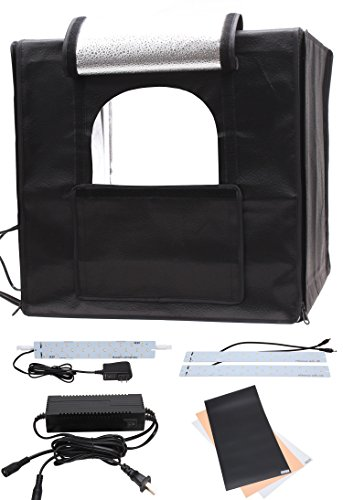 KMM Professional Photo Photography Studio in a Box 16x16x16'' Portable Shooting Tent Kit with Three Background Boards #040F (Photography Backdrop Starter Kit compare prices)