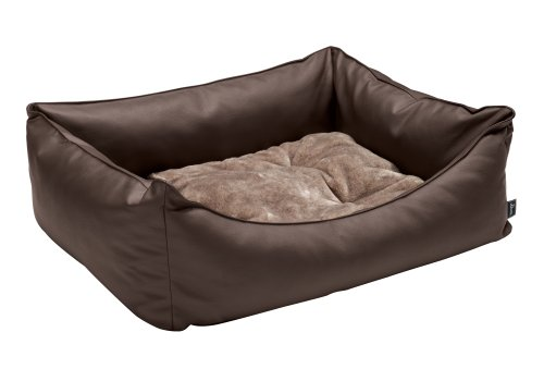 Hunter-60867-Hundesofa-Grizzly-Gre-100-x-70-x-30-cm-braun