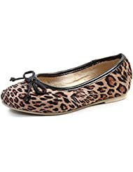 Beanz Lil Diva Leopard Print/Beige Synthetic Ballerina For Girls Size 26 EU