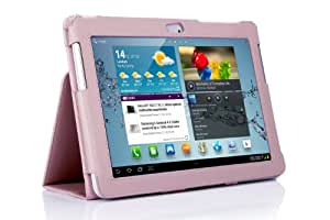 SupCase Slim Fit Folio Leather Tablet Case Cover for 10.1-Inch Samsung Galaxy Tab 2, Deep Pink (S5113-62A-DP)