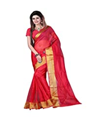 Sonal Trendz Red Color Printed Art Silk Saree