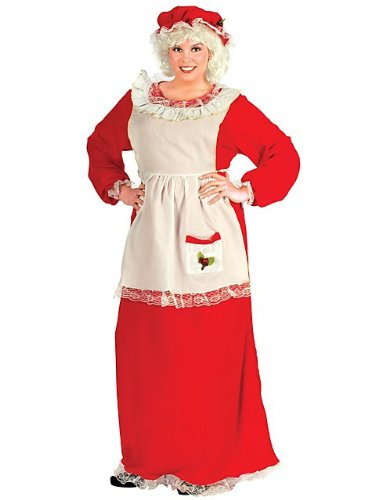 Plus Size Traditional Mrs. Claus Costume for Women