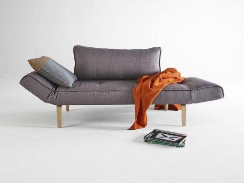 INNOVATION - ZEAL divano letto grigio scuro con piedino curvo in rovere