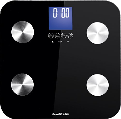 GoWISE USA Slim Digital Bathroom Scale, Black