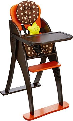 きちんと座れる!  ハイチェア オレンジ