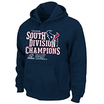 NFL Houston Texans 2012 AFC South Division Champs Men's Hoodie, Blue, Medium