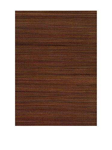Brewster Xue Fang Grasscloth Peelable Wallpaper, Dark Brown