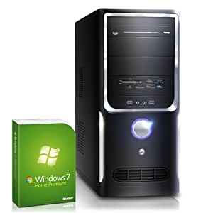 Silent multimedia PC! CSL Sprint H5787u (Quad) incl. Windows 7 - computer-system with AMD A8-6600K CPU 4x 3900 MHz, 1000GB SATA, 16GB DDR3 RAM, ASUS Mainboard, Radeon HD 8570D 2 GB - the ultimate media system for pure entertainment