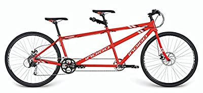 Indigo Turismo 3 Tandem Bike - Red, 18/15-Inch