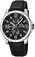 Comprar Festina F16585/4 - Reloj analógico de cuarzo para hombre con correa de piel, color negro