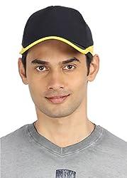 Campus Sutra Men's Cap ( CS_CP_M_PLN_BLYE _ Black & Yellow )