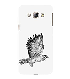 EPICCASE Flying eagle Mobile Back Case Cover For Samsung Galaxy A8 (Designer Case)