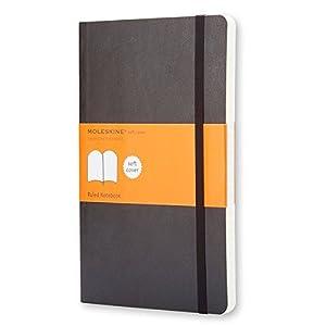 Moleskine QP616 Klassisches Notizbuch Large, Softcover,liniert, schwarz