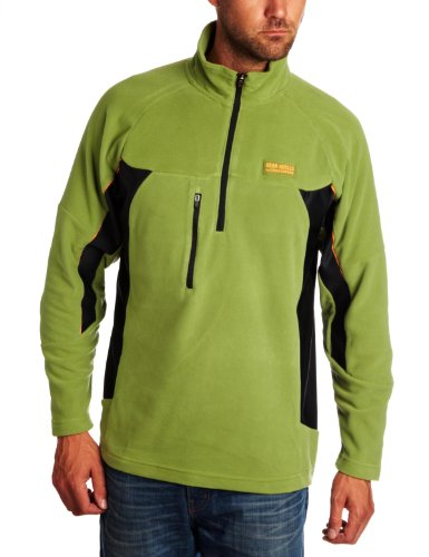 Bear Grylls Men's Men's Trek Microfleece,Wasabi/Black,Medium