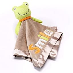 Carter\'s Cuddle Blanket with Rattle: Smile Frog [Baby Product]