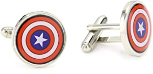 Marvel Comics Capt America Multi-Colored Men's Cuff Links