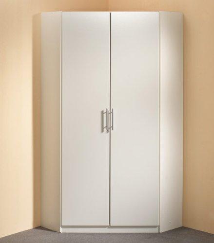 Eckkleiderschrank in Alpinweiß, Aufstellmaß 120 x 120 cm, Maße: B/H/T ca. 95/198/95 cm