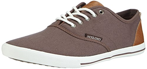 JACK & JONES Jjspider Urban Canvas Sneaker Potting S, Low-Top Sneaker uomo, Marrone (Braun (Potting Soil)), 42