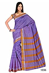 Purva Art Fancy Cotton Base Silk Sree