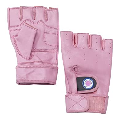 Leather Cross training, Rowing, Weight Lifting Gloves Black Pink White