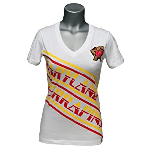 Maryland Terrapins Ladies Earned Stripes V-Neck by Flying Colors