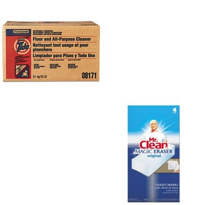 KITPAG02363PAG82027 - Value Kit - Procter amp; Gamble Professional Floor and All-Purpose Cleaner (PAG02363) and Mr. Clean Magic Eraser Foam Pad (PAG82027) kitaapbr181cycox01761ea value kit best hospitality wall cabinet aapbr181cy and clorox disinfecting wipes cox01761ea