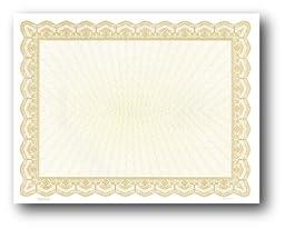 Gold Border Certificate - 100 Certificates