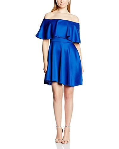 Rare London Vestido Scube Frill Azul Eléctrico S/M