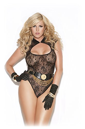 Sexy Women's Plus Size Exotic Revealing Lace Teddy Lingerie