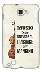 Print Haat Back Case Cover for Samsung Galaxy Note 1 (Multicolor)