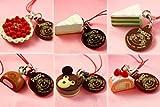 不二家のケーキストラップ2 6種セット まるごと苺のタルトセット