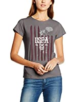 U.S.POLO ASSN. Camiseta Manga Corta (Cemento)