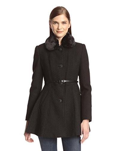 Kensie Women's Long Coat with Faux Fur Trim