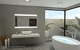 IB MIRROR backlit Bathroom Mirror PARIS 28 In X 48 In 6000 K