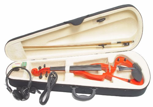 ViolinSmart EV20 Electric Violin (4/4 Full Size, Color: Red)