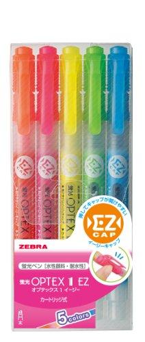 Zebra OPTEX 1 EZ WKS11-5C Fluorescent Marker (5 Colors)