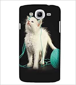 SAMSUNG GALAXY MEAGA 5.8 CUTE CAT Designer Back Cover Case By PRINTSWAG