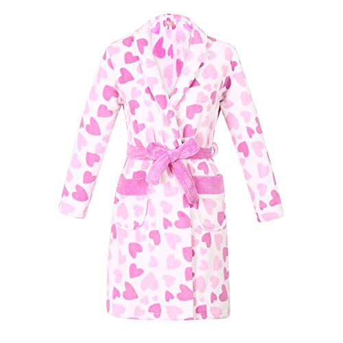 Richie House Big Girl's Warm and Soft Bathrobe