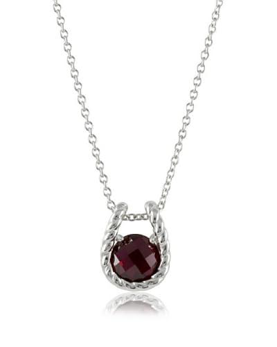 Merii Collar  plata de ley 925 milésimas / Rojo Oscuro
