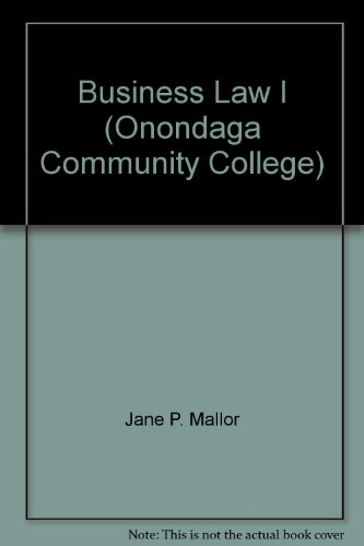 Business Law I (Onondaga Community College)
