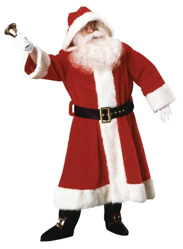 Rubie's Costume Plush Old-Time Santa Suit With Hood Costume