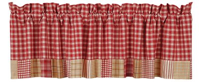 Breckenridge Valance Block Border Lined 16x72""