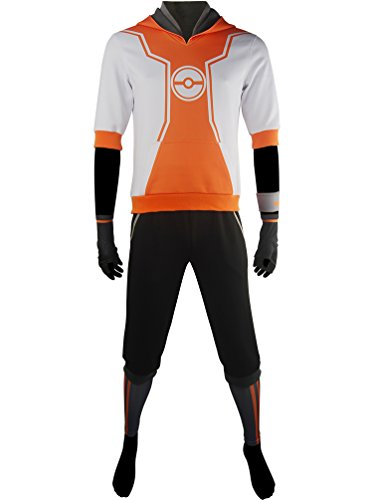 XYZcos Men's Team Valor Mystic Instinct Orange Trainer Outfit Size 2XL